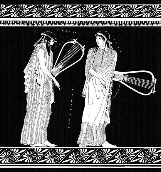 Safo y Alceo. Figuras Rojas