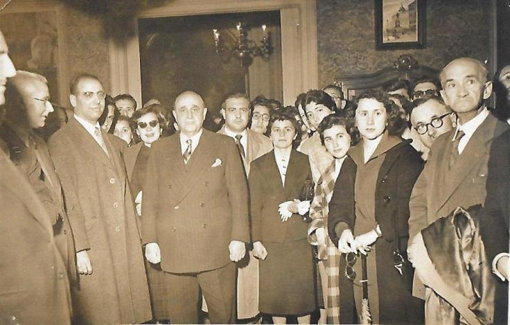 Foto Tovar y salmantinos en congreso
